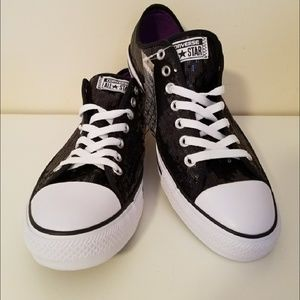 Converse Chuck Taylor All Star Black Sequin Shoes
